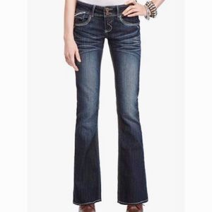 Hydraulic Dark Wash Metro Flare Leg Jeans